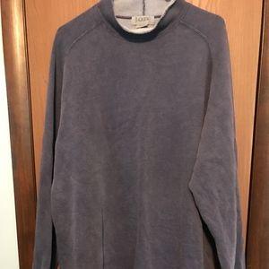 J. CREW Fleece Lined Blue Sweatshirt